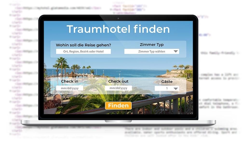Reise-Suchportal mit XML Code